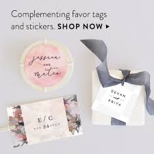 favor tags wedding favor tags minted