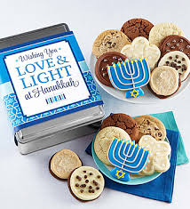hanukkah cookies and light hanukkah gift tin