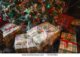Christmas Decorations Under The Tree by Shelves Variety Christmastree Decorations Inside Large Stock Photo