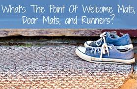 Mud Rugs For Dogs Welcome Mats Door Mats And Runners What U0027s The Point Home Ec 101