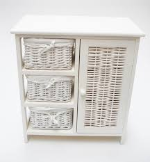 Wicker Basket Bathroom Storage Bathroom Decorating Using White Wood Bathroom Storage Units With