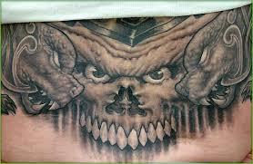 looking for unique evil tattoos tattoos skull gargoyles tattoo