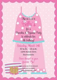 pancakes and pajamas birthday invitation swaggy