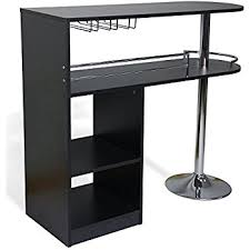 Black Bar Table Brand Furniture Chrome Finish Bar Table With