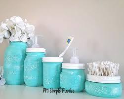 Mason Jar Bathroom Decor Mason Jar Bathroom Accessories Everything Turquoise