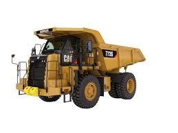 toromont cat 772g off highway truck