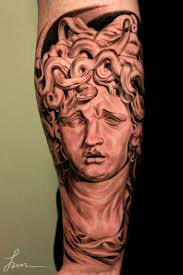 realism medusa tattoo on arm photos pictures and sketches