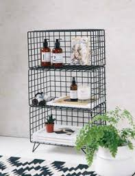 wire shelf rack shelves lockers and bathroom storage