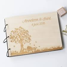engravable wedding guest book personalized engraved tree wedding photo album custom wood