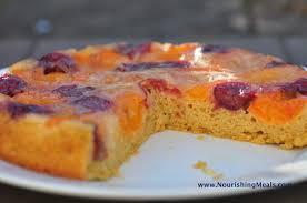 nourishing meals apricot cherry upside down cake gluten free