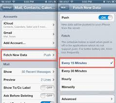 yahoo email not pushing to iphone get new email faster on the iphone by changing fetch settings