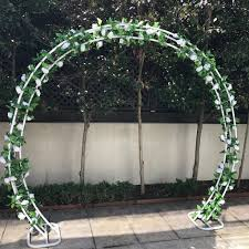 wedding arches for hire melbourne arch 240cm white with faux garlands garden party melbourne