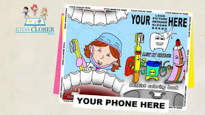 coloring book for your website customized coloring book for dentist offices kidscloser