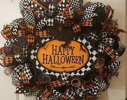 halloween wreath halloween wreath etsy
