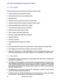 project scope report mac park stage 1 project management course modif u2026