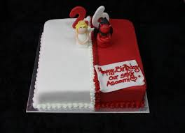 Angel Decorated Cake And Devil Cake