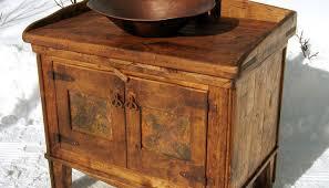 Knotty Pine Vanity Cabinet Rustic Bathroom Vanity Cabinets Exitallergy Com