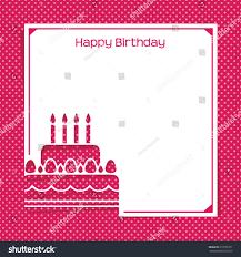 pink happy birthday card flat design stock vector 210597271