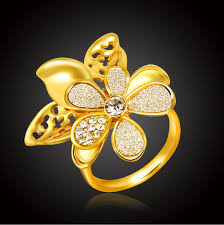 pretty gold rings images Rings new fashion jewelry pretty designs women girls gold color jpg