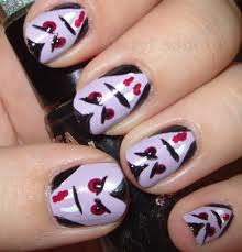 halloween vampire nails nailed it pinterest vampire nails