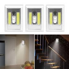 cob led wireless night light with switch 3 pcs cob led wall switch wireless battery operated closet cordless