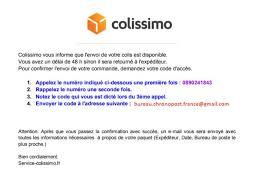 code bureau de poste bureau chronopost gmail com 0890241843 colissimo other scam