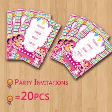 lalaloopsy theme 20pcs lot invitations card birthday party