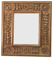 decorative mirror frame solid carved wood