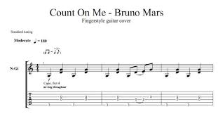 Count On Me Bruno Mars Piano Pdf Count On Me By Bruno Mars Acoustic Guitar Arrangement Sheet