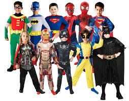 Boy Costumes Superhero Boys Fancy Dress Childs Comic Book Characters Kids