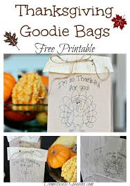 thanksgiving goodie bags printable a bountiful harvest hop