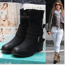 womens boots booties ankle buckle shoes combat boot booties boots