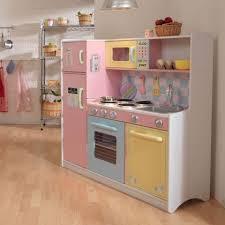 large pastel play kitchen