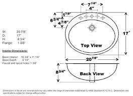 bathroom sink size guide dosgildas com home furnitures