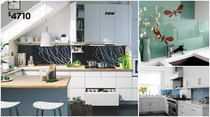no grout backsplash ideas how about a glass backsplash not the small glass tiles which i love