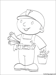 bob builder ready print color coloring pages