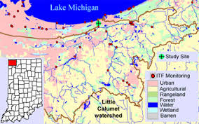 map of calumet michigan monitoring and forecasting outfalls of streamflow br