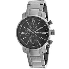 mens stainless steel bracelet watches images Fossil men 39 s bq1004 rhett chronograph gunmetal stainless steel jpg