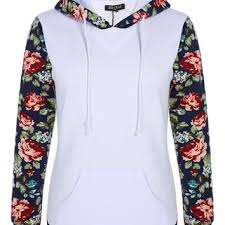 Floral Sleeves For Floral Print Sleeve Hoodie Pocket From