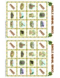 free printable bingo cards jungle animal picture bingo animal jr