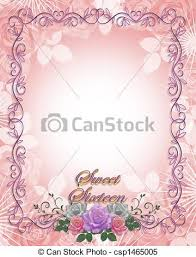 stock illustrations of sweet 16 birthday graphic orchids image