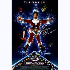 chevy chase signed national lampoons christmas vacation 11x17