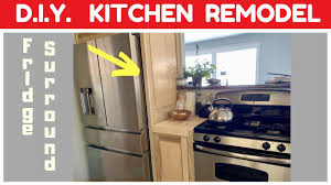 how to build a cabinet around a refrigerator diy kitchen remodel fridge surround and custom countertops part 5