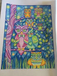 ornamental owls coloring book edwina mc namee