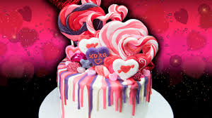 candy valentines s day rainbow drip candy cake from cookies cupcakes and