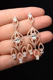 gold bridal earrings chandelier bridal earrings chandelier pearl vintage gold swarovski