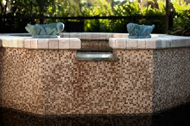 find tile for your pool and spa at tile outlets of america the stone and glass mosaic tile water feature