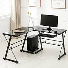 60 Inch L Shaped Desk Amazon Com Best Choice Products Wood L Shape Corner Computer Desk