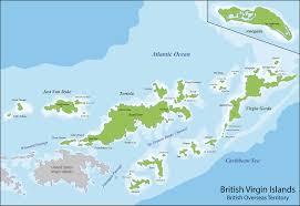 Map Caribbean Sea by Map Of British Virgin Islands For Chartered Yachts