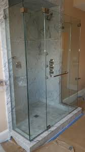 Shower Door Header Frameless Shower Enclosure With No Header And 1 2 Clear Tempered